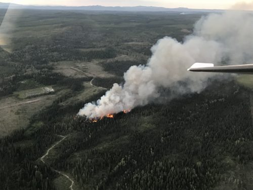 Wildfire prompts evacuation alert near Vanderhoof