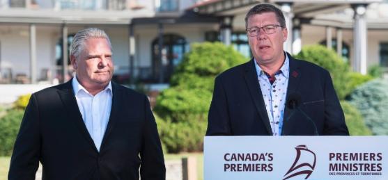 Ontario Premier Doug Ford and Saskatchewan Premier Doug Moe.