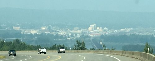 An air quality statement remains in effect for Prince George and Vanderhoof as smoky skies persist. Bill Phillips photo