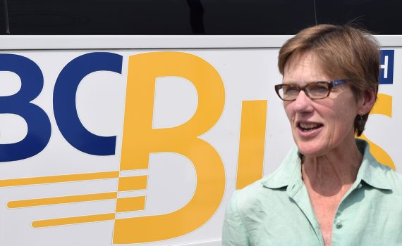 Transportation Minister Claire Trevena in Prince George Wednesday. Bill Phillips photo