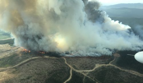 The Chutanli Lake fire. B.C. Wildfire Service photo