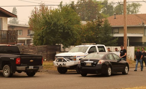 Police raid a house on Eighth Avenue Wednesday afternoon. It's not known whether any arrests were made. More to come. Bill Phillips photo
