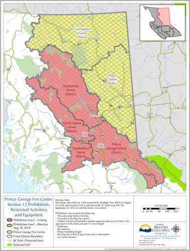 Campfire ban extended to the Peace and Fort Nelson forest districts