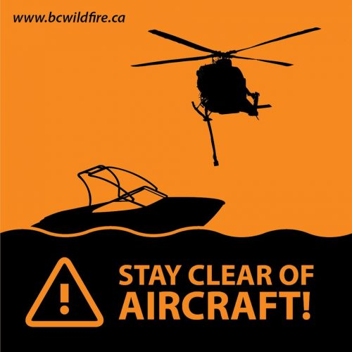 Fraser Lake boaters asked to stay away from firefighting aircraft