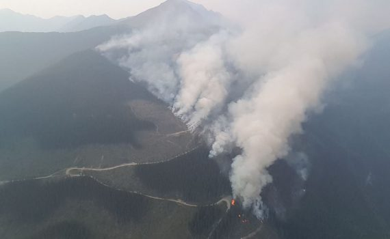 The Dave Henry Drainage wildfire (G31735). BC Wildfire Service photo