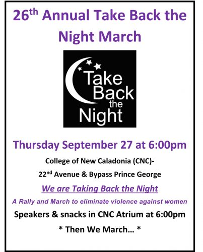 Take Back the Night march set for Thursday