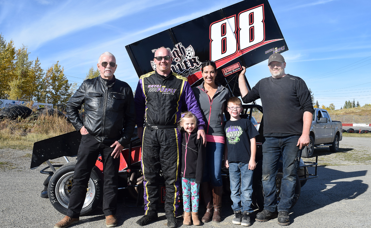 Jason Conn with Ginny Grimshaw and their two kids, brother Aaron Conn and John Brink. Bill Phillips photo