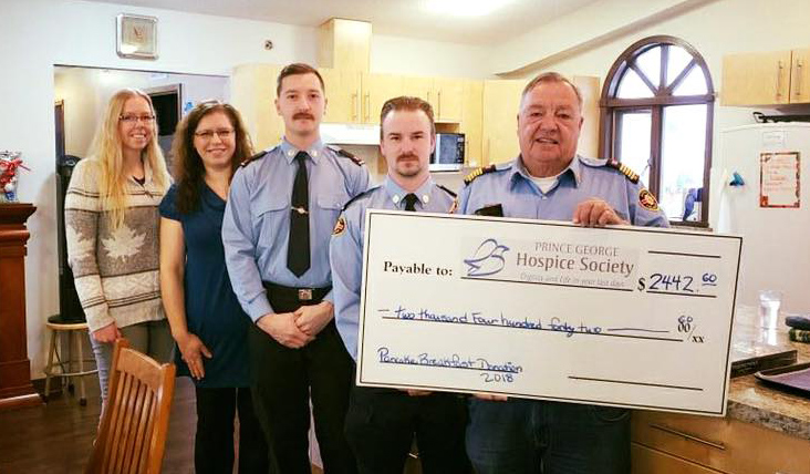 The Beaverly Fire Department donated just over $2,400 to the 2018 Give a Gift to Hospice Campaign, in memory of the friends and family of the fire department that have been supported by the care at Rotary Hospice House. The donation consisted of funds raised from the annual Father's Day Pancake Breakfast.