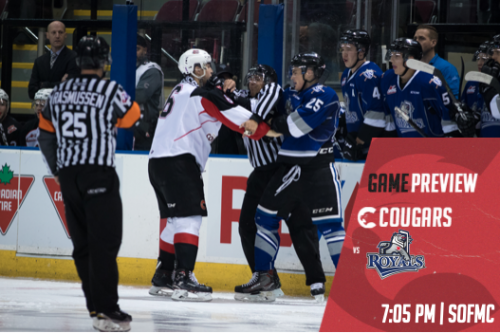 Cougars looking to end three-game winless streak on Vancouver Island