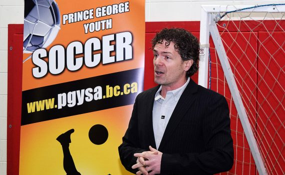 Terrol Russell, Prince George Youth Soccer Association club manager. Bill Phillips photo