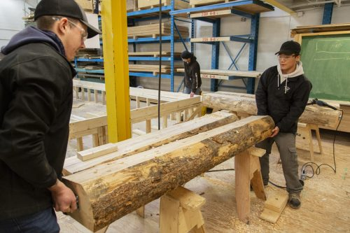CNC carpentry students build flag holders for 2019 Para Nordic Skiing Championships