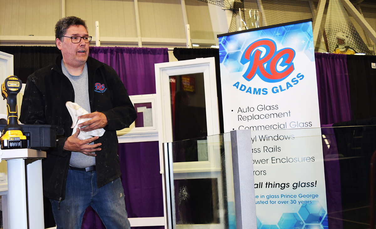 RC Adams Glass is just one of the dozens of vendors who will be showing their wares at the 42nd Northern BC Home & Garden Show this weekend. Bill Phillips photo