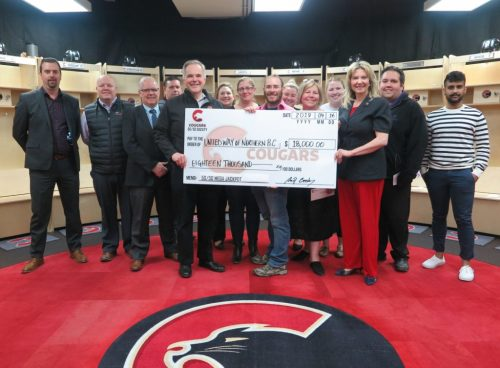 Prince George Cougars Society donates $18K to United Way