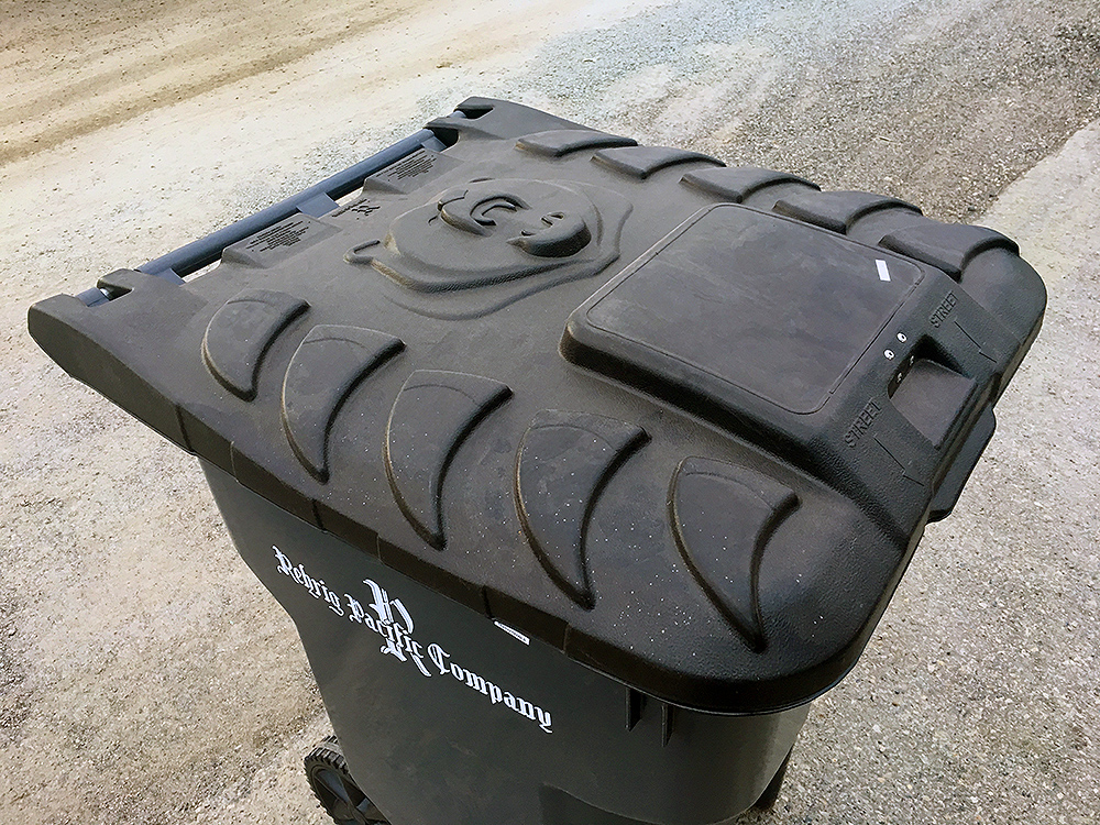 The carts being used in the pilot project are certified bear-resistant by the Interagency Grizzly Bear Committee, and are fully compatible with the automated lift arms used by all city waste collection trucks. City of Prince George photo