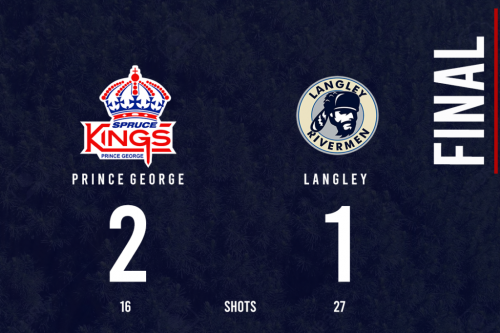 Spruce Kings notch 2-1 win over Rivermen
