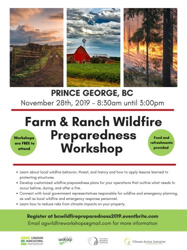 Farm and ranch wildfire preparedness workshop set for Nov. 28