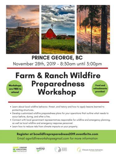 Farm and ranch wildfire preparedness workshop set for Nov. 28