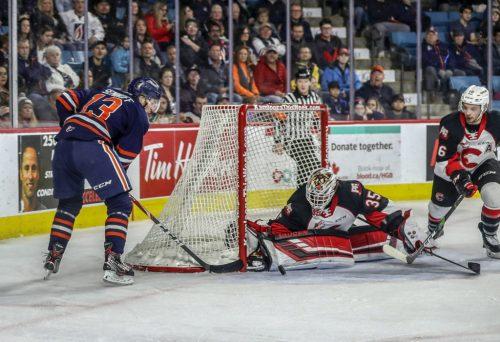 Blazers edge Cougars in goaltenders' duel