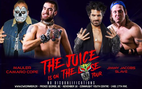 Full line-up for Juice is on the Loose wrestling card